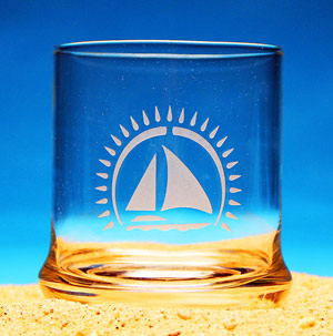 Sailing Away Cocktail Glass