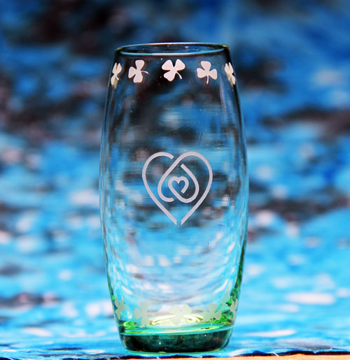 Heart Knot Shot Glass